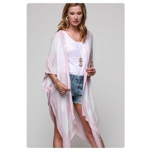 Tops - Blush Pink Tie Dye Kimono